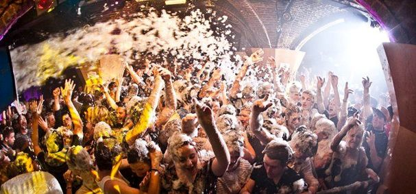 Foam Cannon in nightclub